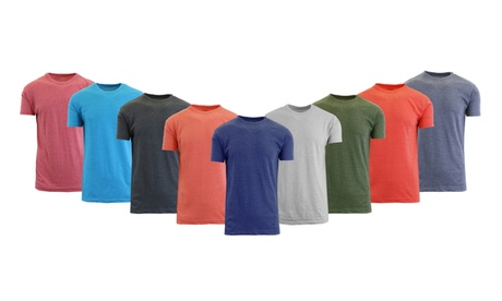 Men's Cotton-Blend Crew-Neck Heather Tee 84c9b25d-8cc2-475d-b382-b2b48e1780b9