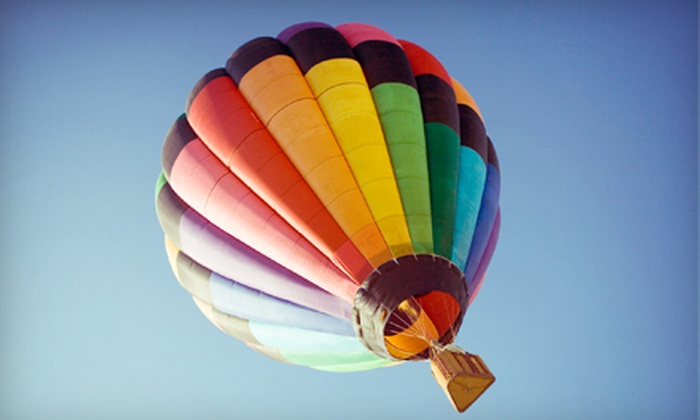 Balloon Rides Online - Multiple Locations: $112 for a One-Hour Hot Air Balloon Ride for One with Champagne Toast from Balloon Rides Online ($225 Value)