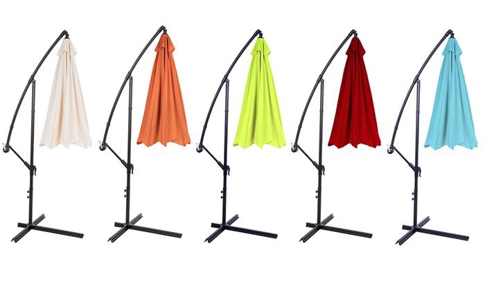 ... Pure Garden Aluminum Hanging Patio Umbrella: Pure Garden Aluminum Hanging  Patio Umbrella ...