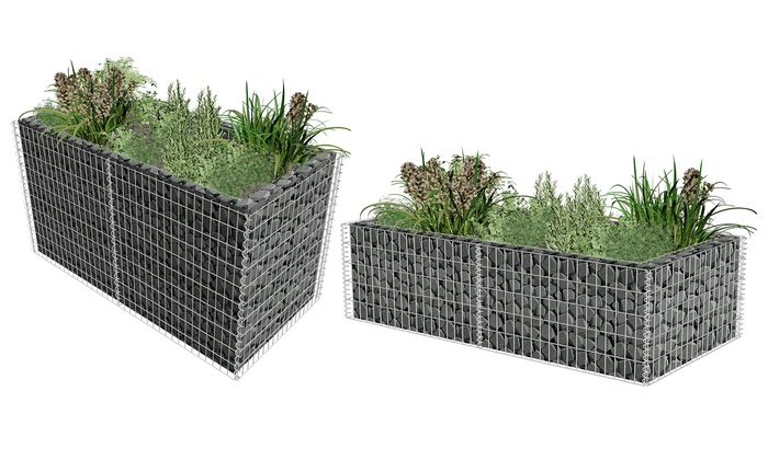 gabion plantenbak groupon. Black Bedroom Furniture Sets. Home Design Ideas