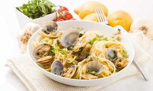 Ristorante Pizzeria la Fenice: Menu di pesce di 4 portate con mix di antipasti e vino per 2 o 4 persone da la Fenice (sconto fino a 68%)