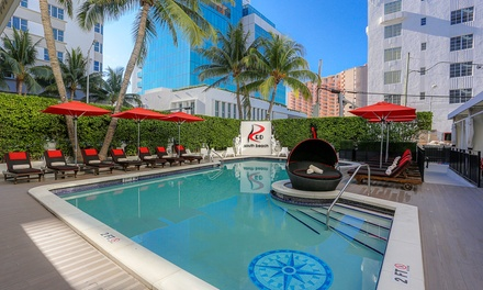 Stay, with Champagne, at Red South Beach Hotel in Miami Beach, FL