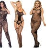 Erotischer Bodystocking Einteiler für kurvige Frauen, Plus Size