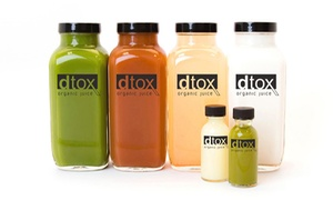 Organic Cold Pressed Juice, Smoothies, and Detoxifying Cleanses at Dtox Organic Juice (Up to 40% Off)