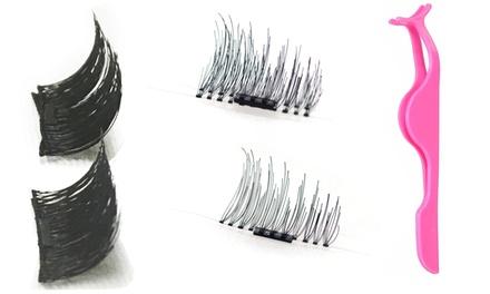 1, 2 o 3 pares de pestañas magéticas 100% naturales o sintéticas, con o sin aplicador