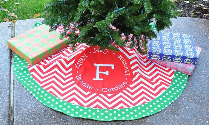 personalized christmas tree skirt from swirl designs 43 off