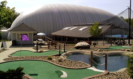 24 Batting-Cage Tokens or Four Rounds of Mini Golf at The Golf Dome (46% Off)