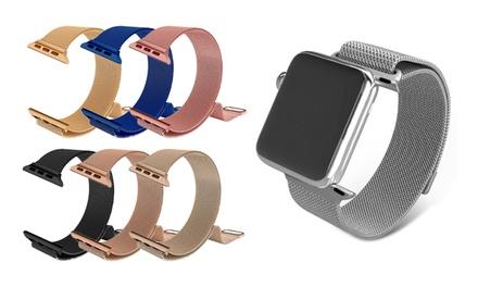 1x, 2x oder 3x Mesh-Armband für Apple Watch mit Magnetverschluss und 38 oder 42 mm Breite in der Farbe nach Wahl