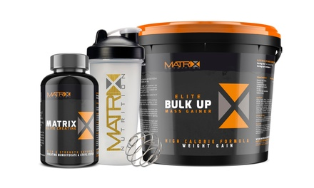 Matrix Elite Creatine, Muscle Protein and Shaker Bundle