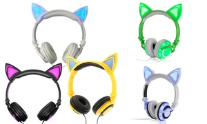 Jamsonic DJ-Style Light-Up Cat-Ear Headphones at Jamsonic DJ-Style Light-Up Cat-Ear Headphones, plus 6.0% Cash Back from Ebates.