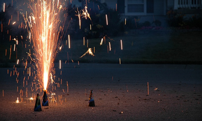 Rocket Fireworks - Multiple Locations: $8 for a Big-Blast Fireworks Package with Rainbow Candle from Rocket Fireworks ($16 Value)