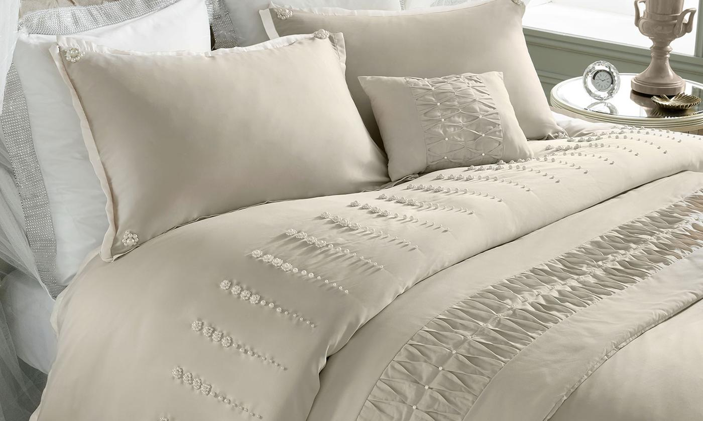 By Caprice Embellished Bedroom Set: Duvet Cover, Cushions or Curtains