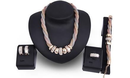 Set van 5 sieraden versierd met Swarovski®kristallen
