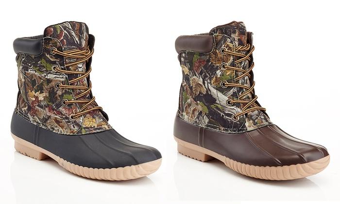Men's Camo Print Rubber Boots
