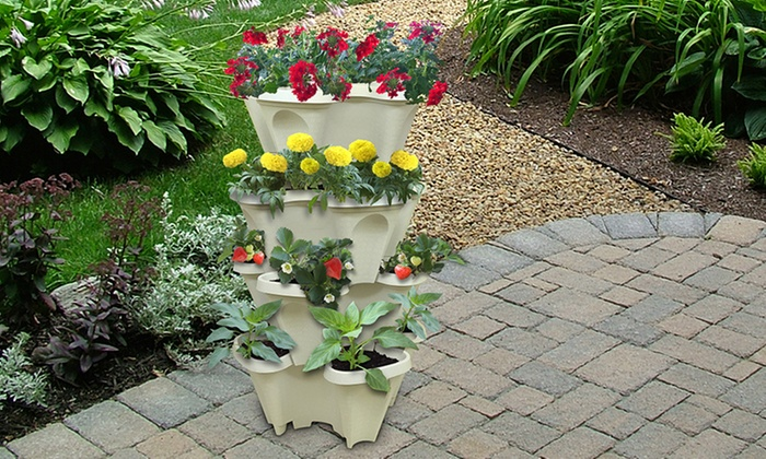 Up To 25% Off on Stackable Planters (4-Pack) | Groupon Goods Garden Planters Com on garden urns, garden patios, garden yard spinners, garden pots, garden ideas, garden pools, garden beds, garden vegetable garden, garden arbors, garden plants, garden boxes, garden bench, garden art, garden accessories, garden walls, garden trellis, garden steps, garden seeders, garden tools, garden shrubs,
