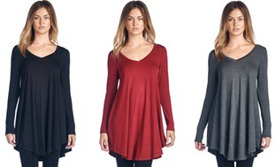 Women's V-Neck Tunic Top