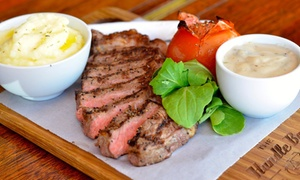 The Handle Bar: 250g Sirloin Steak and Choice of Sauce from R130 for Two at The Handle Bar (Up to 55% Off)