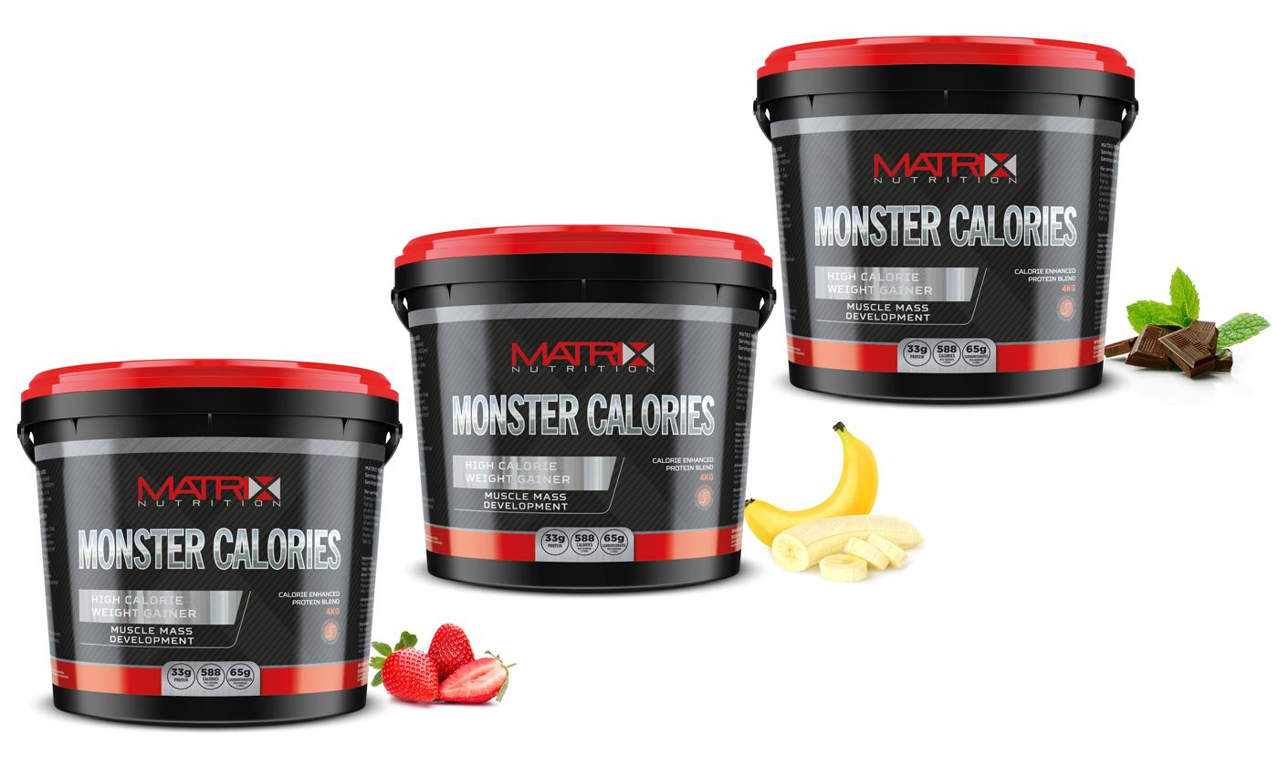 Matrix Monster Calories 4kg Whey in Choice of Flavour