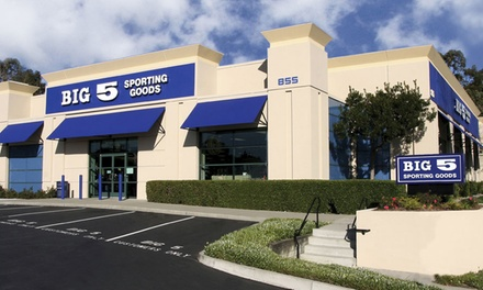 $20 Voucher to Spend at Big 5 Sporting Goods