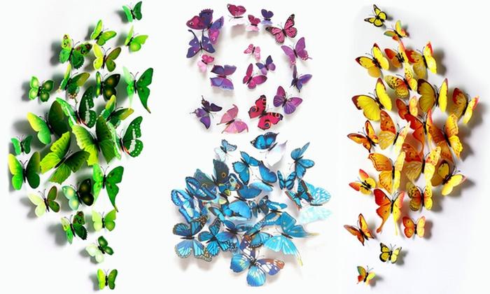Farfalle adesive per pareti groupon for Bordure adesive per pareti