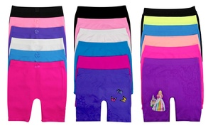 Kids' Seamless Above-the-Knee Shorts (6-Pack)