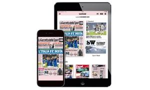 La Gazzetta dello Sport: Abbonamento fino a 24 mesi a Gazzetta Gold, la versione digitale de La Gazzetta dello Sport(sconto 75%)