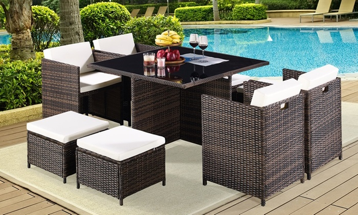 Cubed Rattan Dining Set ...