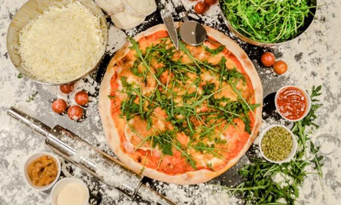Tepizzare - Tepizzare: Menú de pizza para 2 o 4 personas con entrantes, postre y bebida desde 19,95 € en Tepizzare