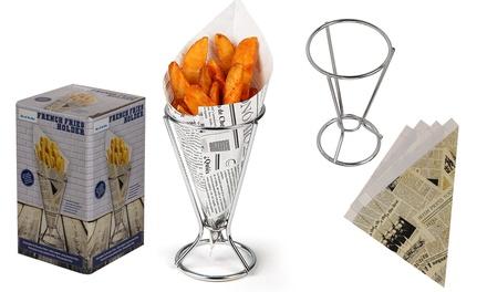 Porta patatine fritte in metallo