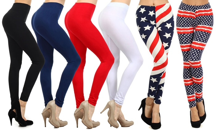 Women's Printed and Solid Leggings (6-Pack)
