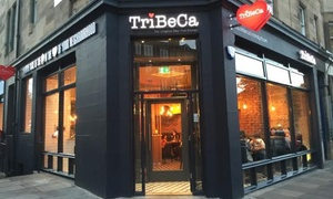 TriBeCa Edinburgh: Burgers and Fries for Two or Four at TriBeCa (Up to 57% Off)