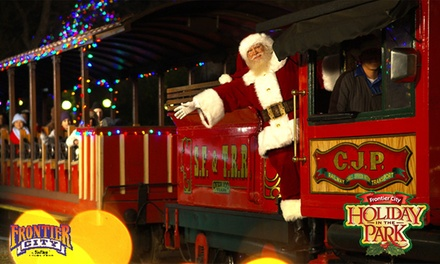 $28 79 for Holiday in the Park Admission for One at Frontier City ($47 99  Value)