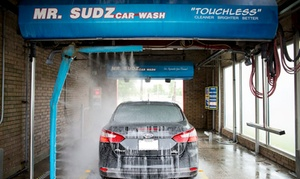 """Mr. Sudz Car Wash: One or Two Silver Package Washes or """"Like That Shine"""" Wax at Mr. Sudz Car Wash (Up to 52% Off)"""