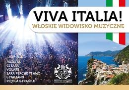 """Viva Italia: Od 59,90 zł: bilet na koncert """"Viva Italia! Włoskie widowisko muzyczne"""" – 5 miast"""