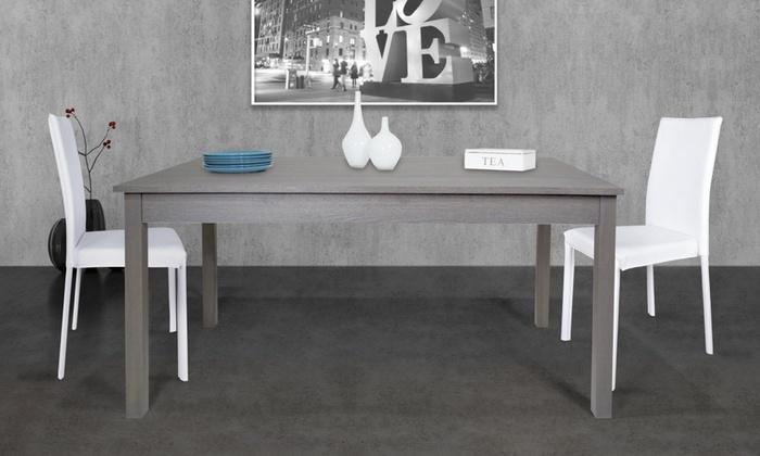 Sedie Bianche Design : Tavolo e sedie bianche design per la casa aradz.com