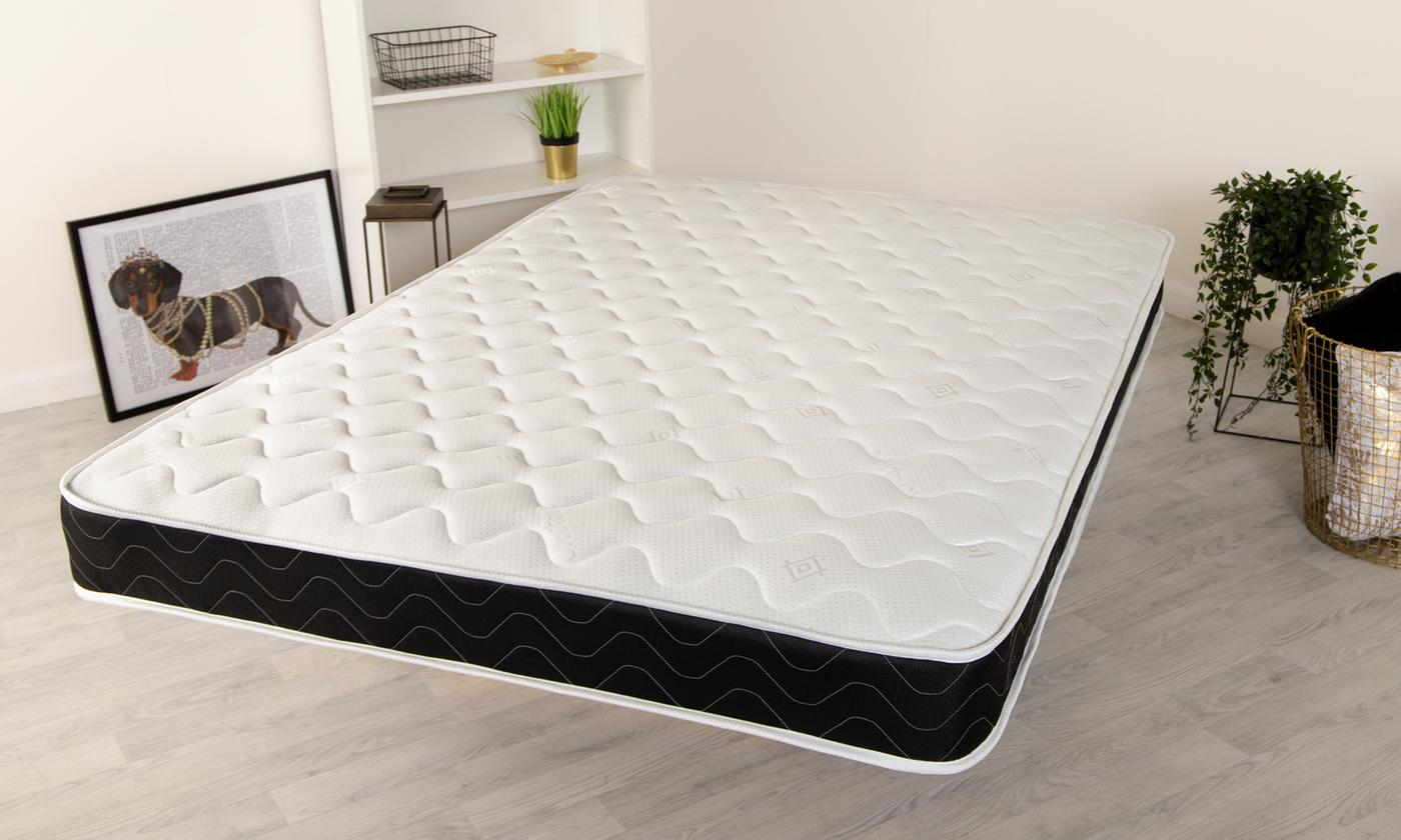 Black Quilted Hypoallergenic Memory Foam Mattress from £49 (67% OFF)