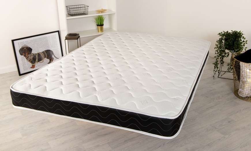 Black Quilted Hypoallergenic Memory Foam Mattress
