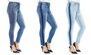 Zelle Belle Women's Frayed Ankle Skinny Fashion Jeans