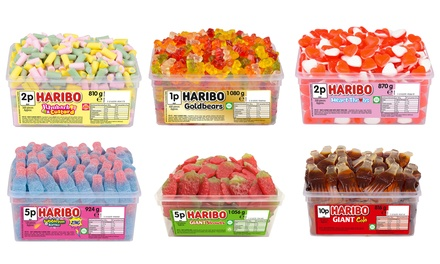 Up to Six Tubs of Haribo Sweets in a Variety of Flavours