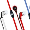 MEElectronics RX12P Flat Cable In-Ear Headphones with Microphone