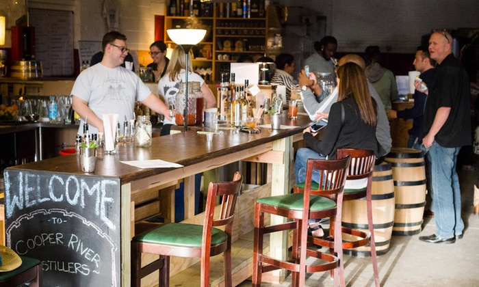 Distillery tour and tasting cooper river distillers for Coopers craft bourbon review