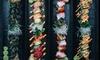3-Gänge-Menü mit Sushi-Platte
