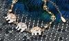 18K Gold Plated Elephant Bracelet with Swarovski Crystals by Barzel
