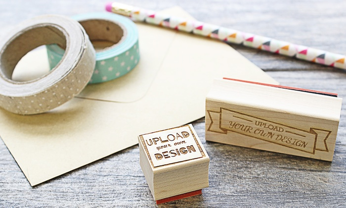 """RubberStamps.com: One Custom 1""""x1""""  or 1""""x2.5""""  Engraved Stamp from RubberStamps.com (67% Off)"""