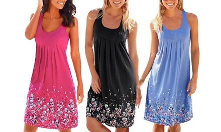 1 of 2 strandjurkjes met bloemetjespatroon voor vrouwen in kleur en maat naar keuze