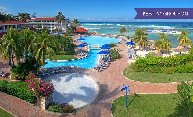 TripAlertz wants you to check out ✈ 4-, 5-, or 6-Night Holiday Inn Montego Bay Trip with Nonstop Airfare. Price per Person Based on Double Occupancy. ✈ All-Incls. Holiday Inn Montego Bay Trip w/ Air from Vacation Express - All-Inclusive Jamaica Vacation