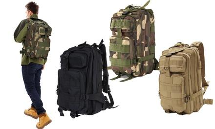 Outdoor-Rucksack in Militär-Optik in Schwarz, Khaki oder Camouflage (Koln)