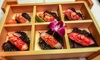 Menu giapponese con dolce e vino