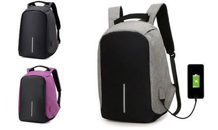 Milano Anti Theft Backpack with USB Charging Port ($34) and with Power Bank ($45)