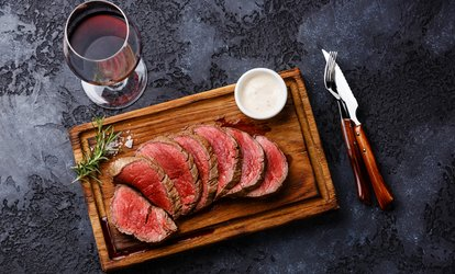 Steak with Wine for Two or Four at The Bulls Head (Up to 42% Off)
